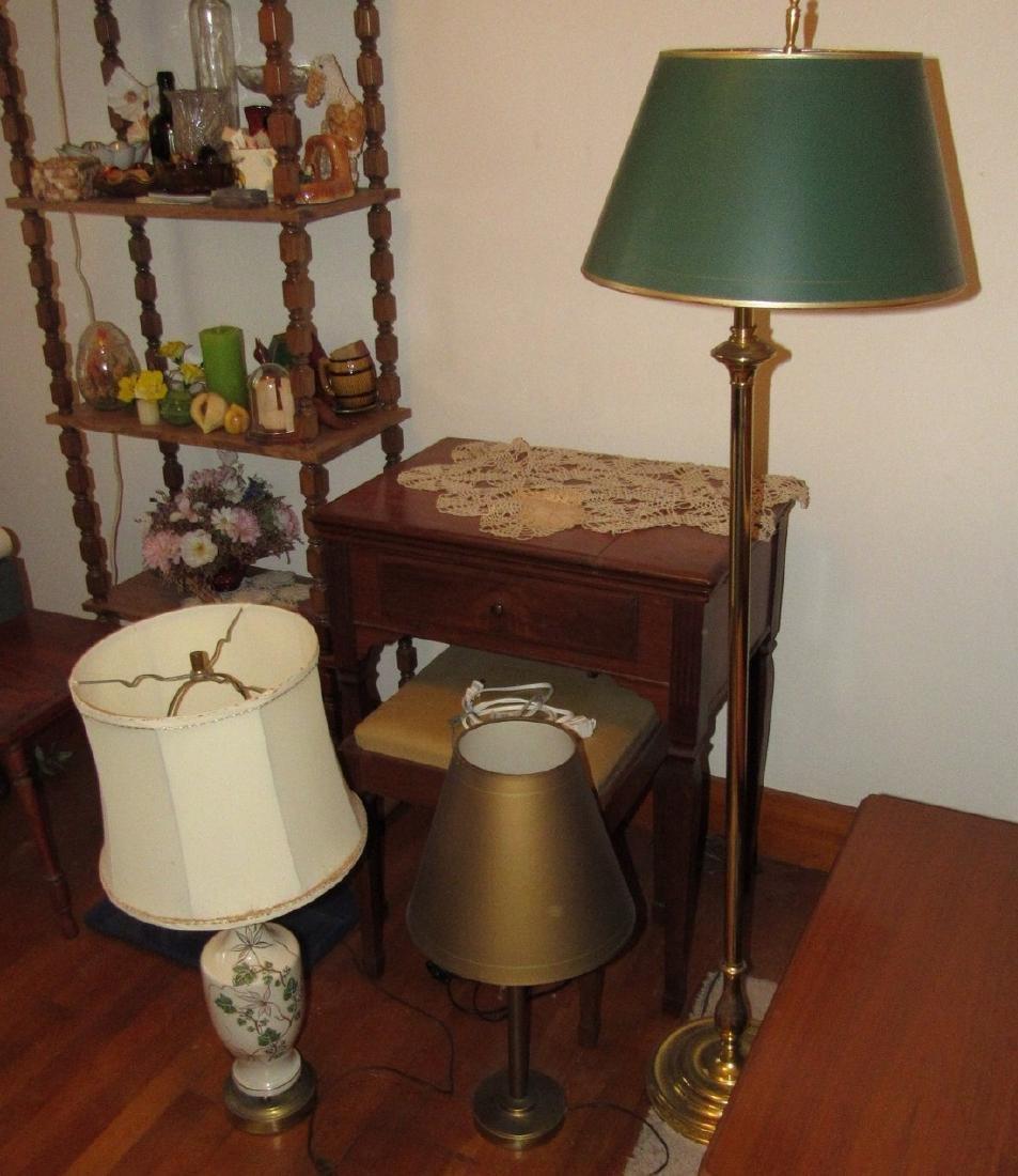 Floor Lamp & 2 Table Lamps - 2
