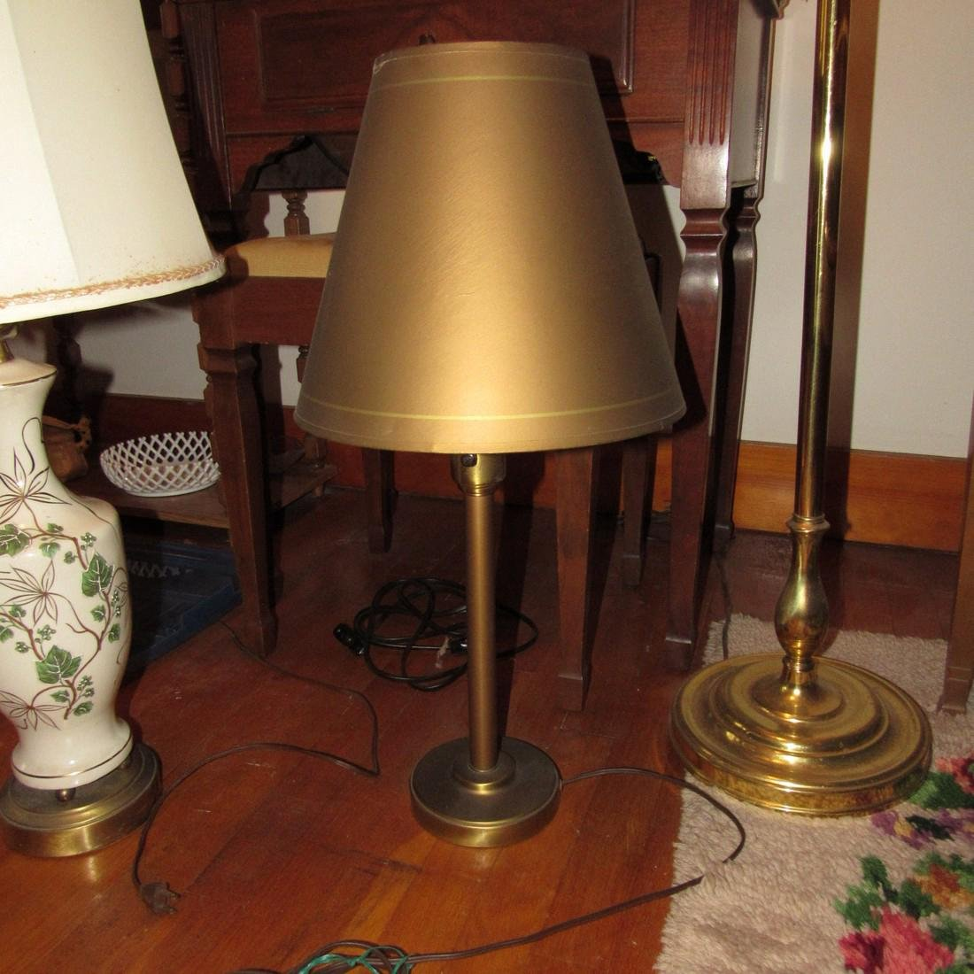 Floor Lamp & 2 Table Lamps - 4