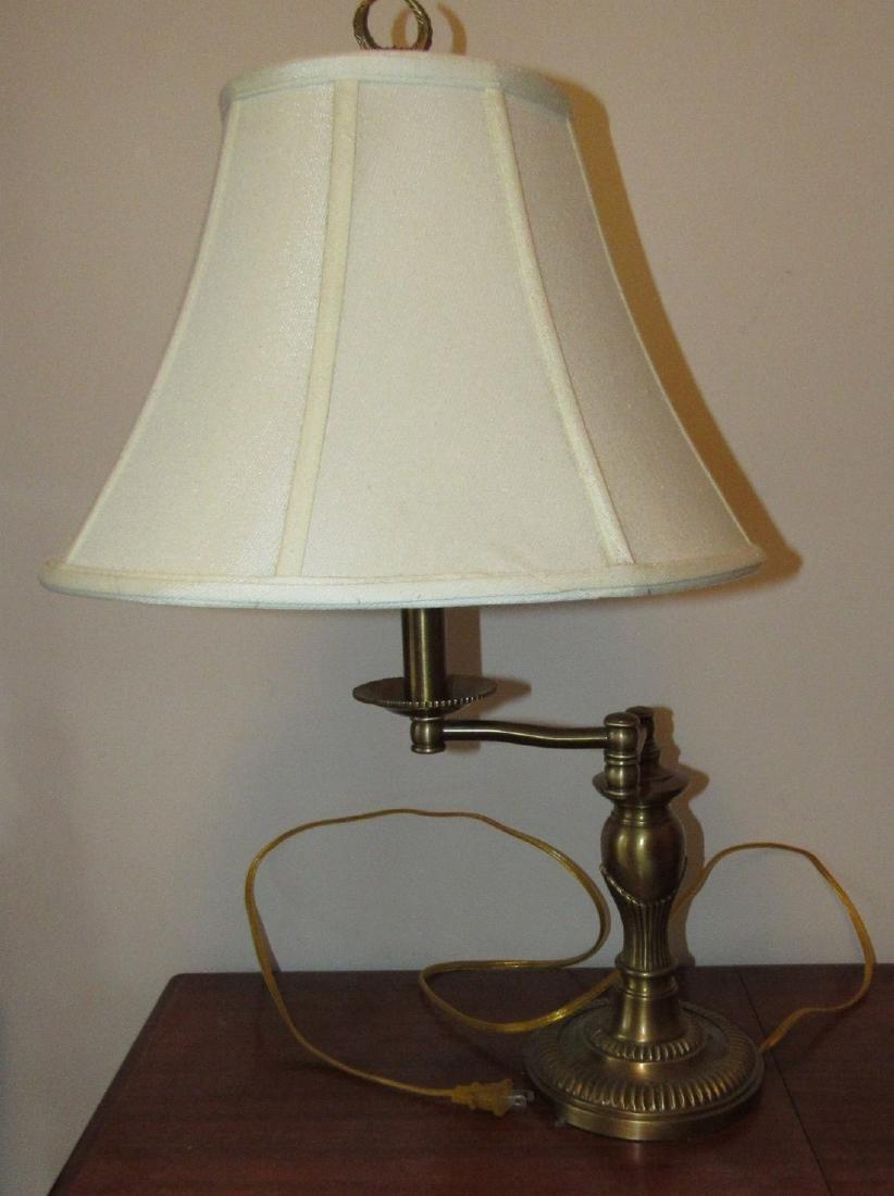 Heavy Adjustable Brass Lamp