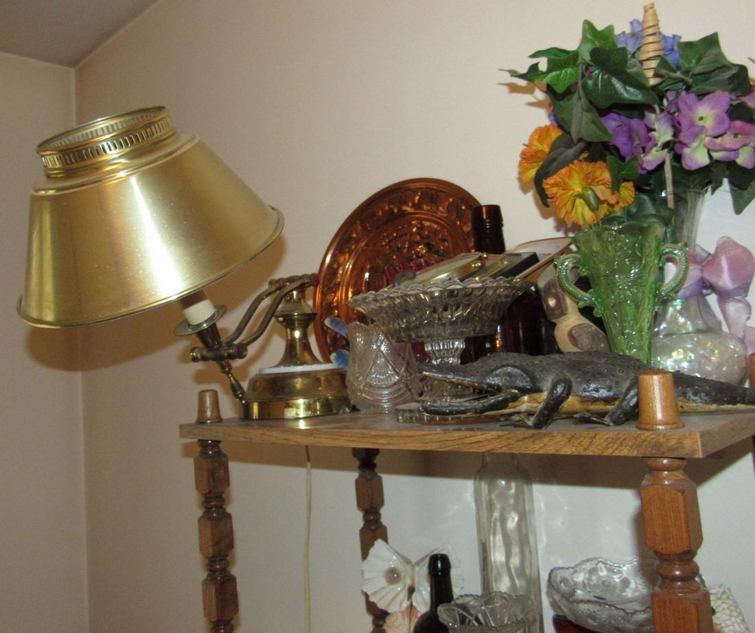 Shelf Chair Knick Knacks Glassware Lot - 2