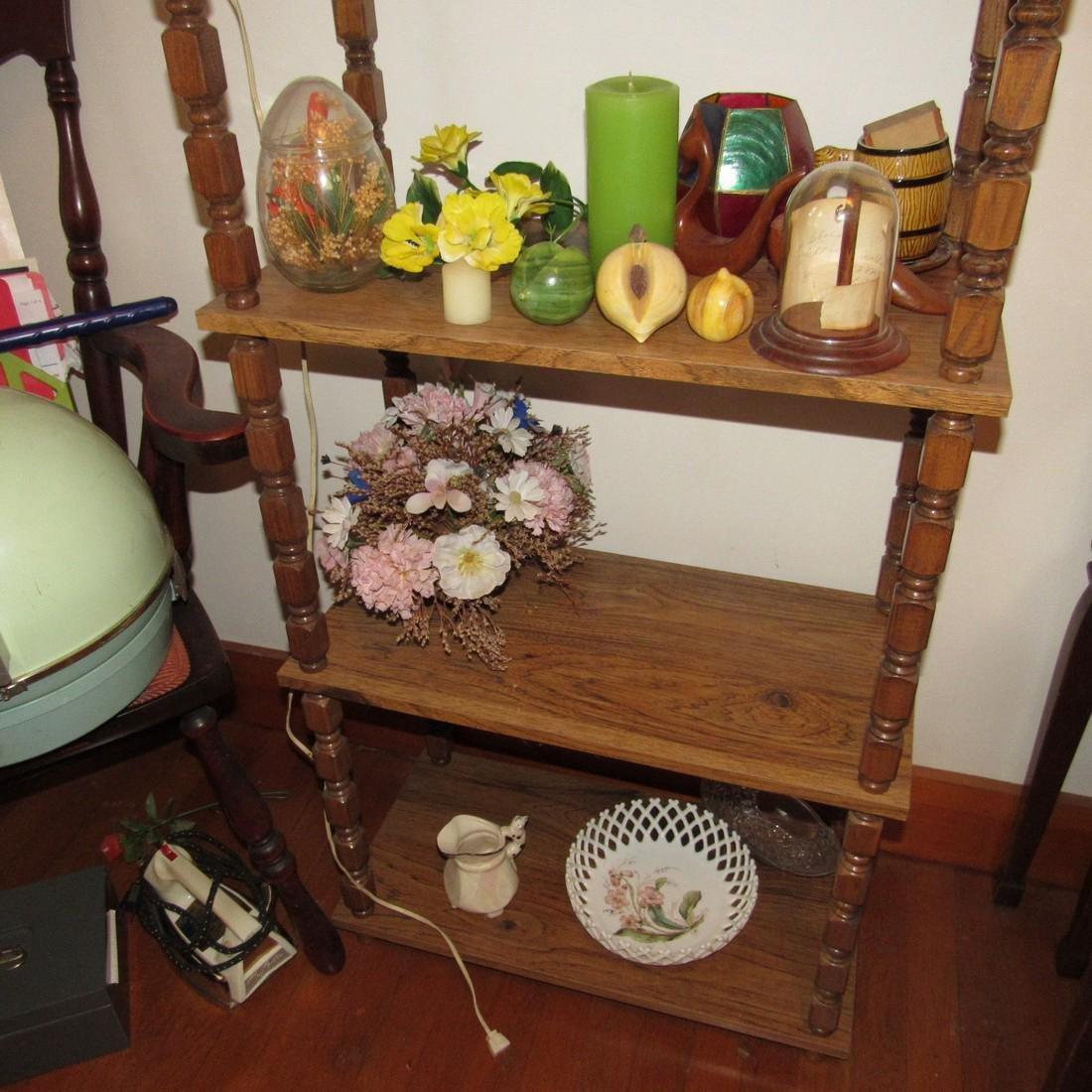 Shelf Chair Knick Knacks Glassware Lot - 4