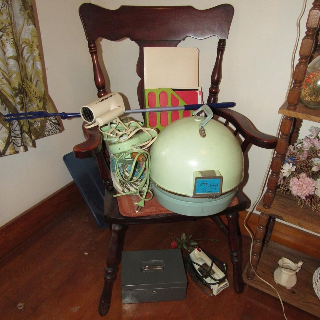 Shelf Chair Knick Knacks Glassware Lot - 5
