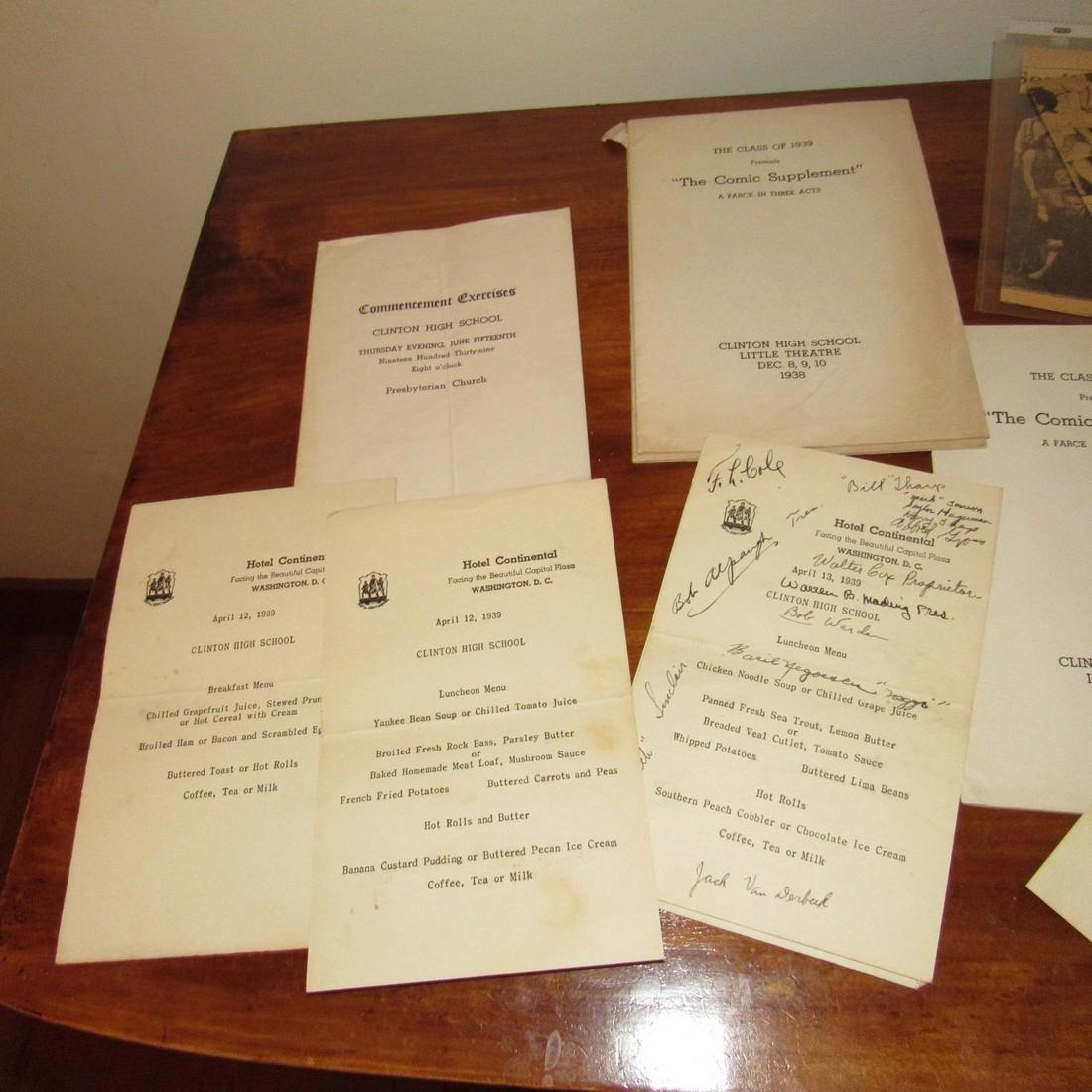 1930's & 40's Clinton NJ High School Literature - 2