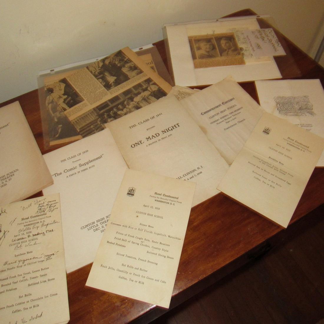 1930's & 40's Clinton NJ High School Literature - 3
