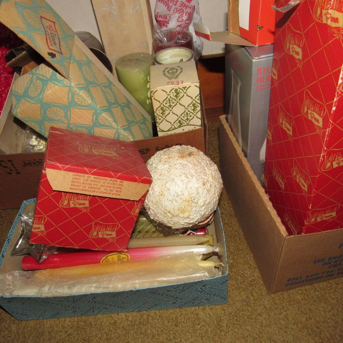 Vintage Candles including Christmas - 5
