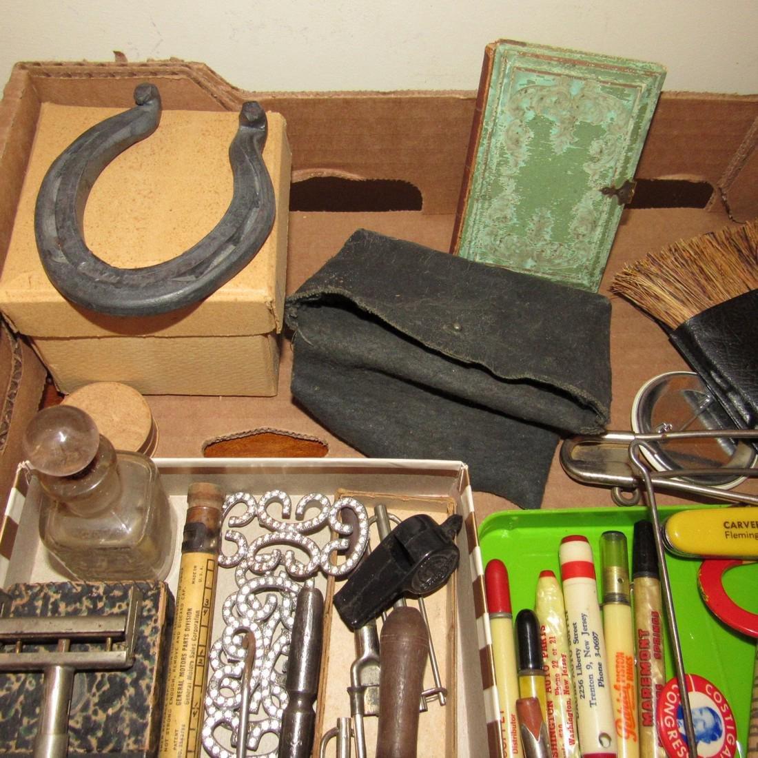 Wood & Brass Rule Lead Pencils Buttons Lot - 2