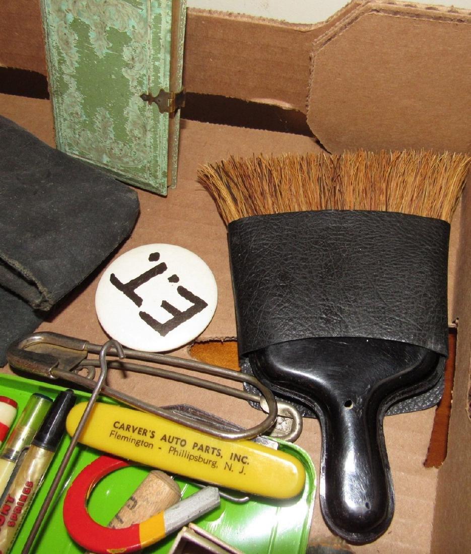 Wood & Brass Rule Lead Pencils Buttons Lot - 7