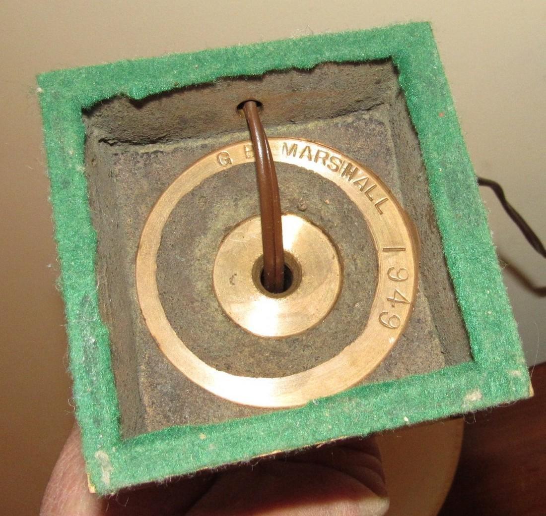 GB Marshall 1949 Solid Brass Lamp - 3