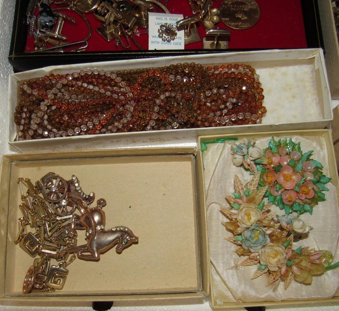 Large Lot of Jewelry Rings Cufflinks Brooches - 3