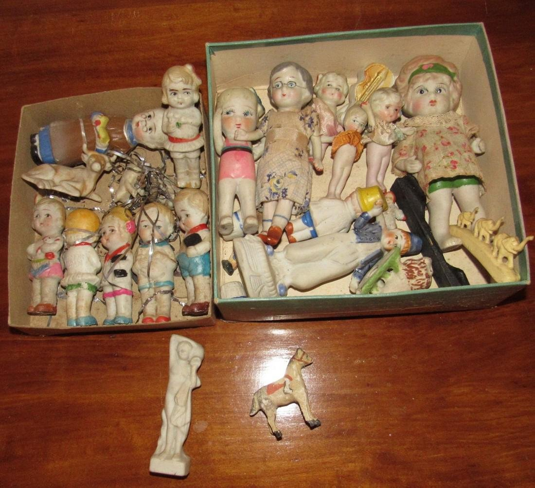Lot of Bisque Dolls Incl. Snow Baby
