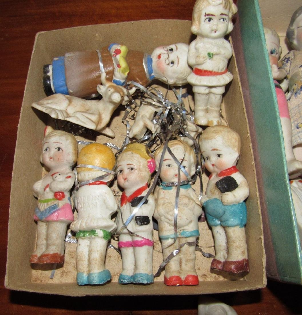 Lot of Bisque Dolls Incl. Snow Baby - 2