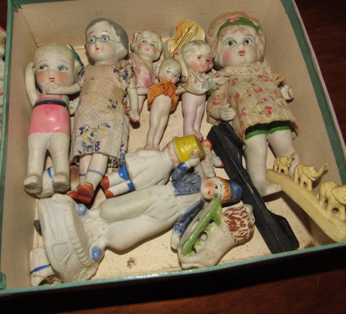 Lot of Bisque Dolls Incl. Snow Baby - 3