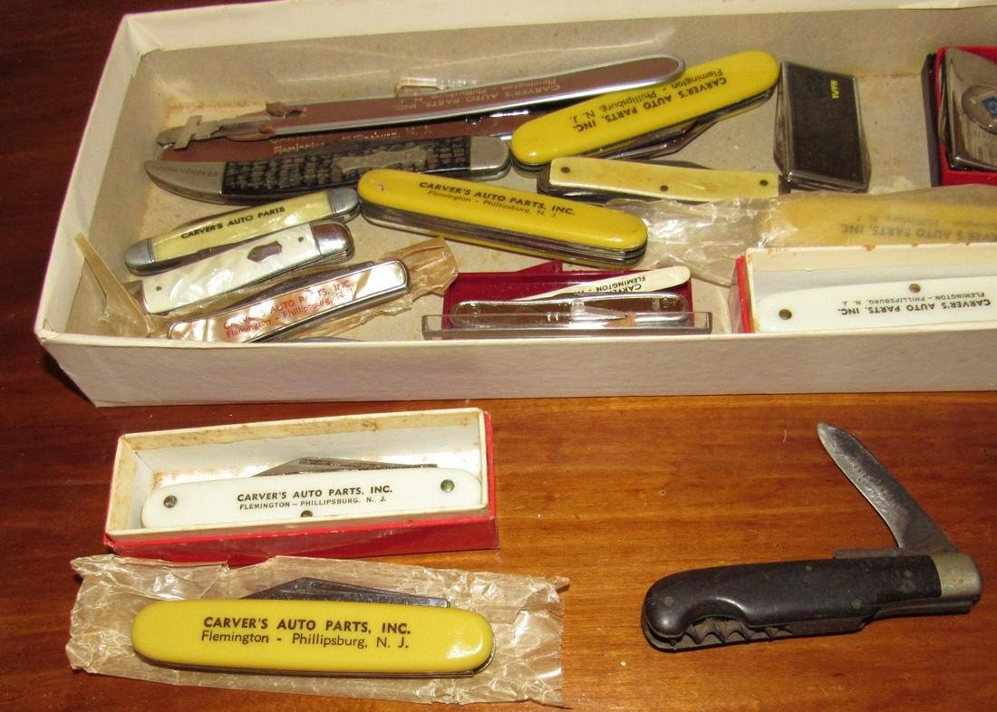 Large Lot of Pocket Knives Carvers Auto Parts - 4