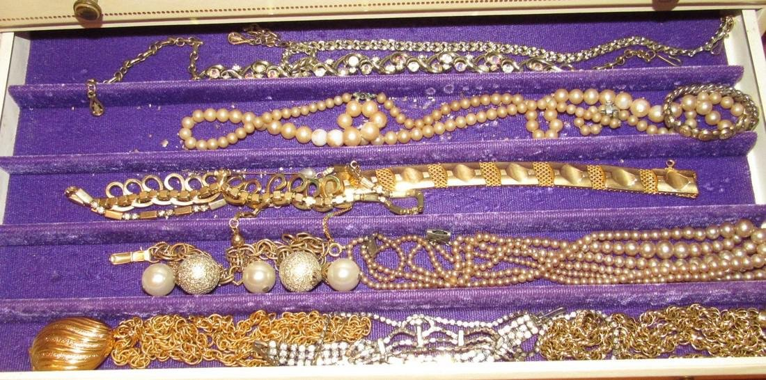 Large Jewelry Box Filled w/ Bracelets Necklaces - 5