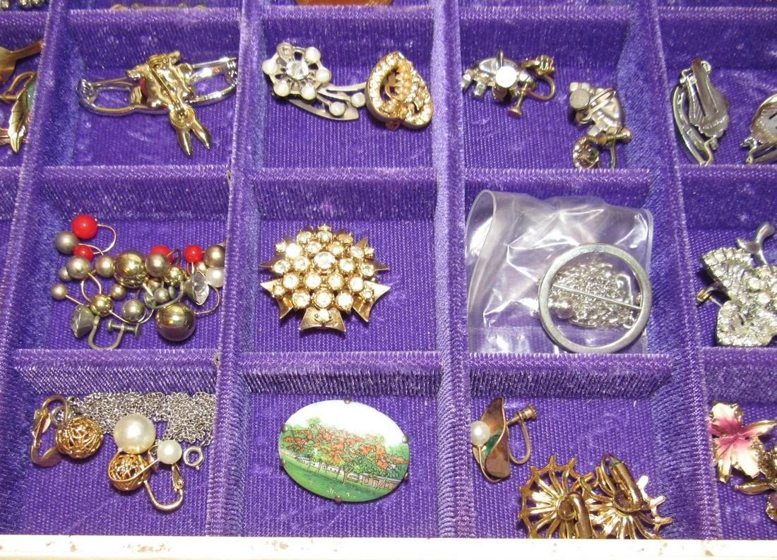 Large Jewelry Box Filled w/ Bracelets Necklaces - 8