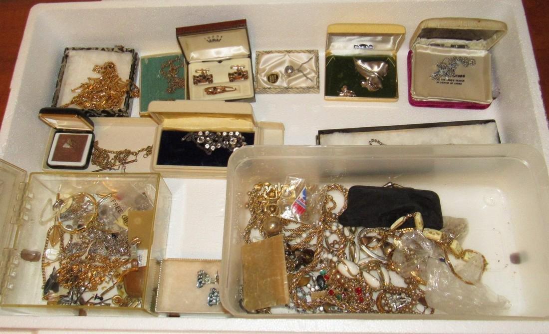 Jewelry Lot Incl Sterling Silver Earrings & Brooch