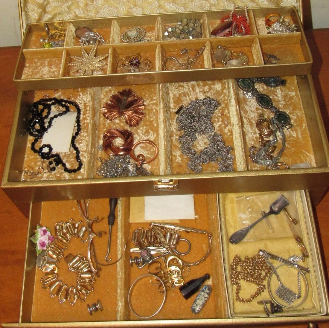 Jewelry Lot Ring Earrings Bracelets Brooches