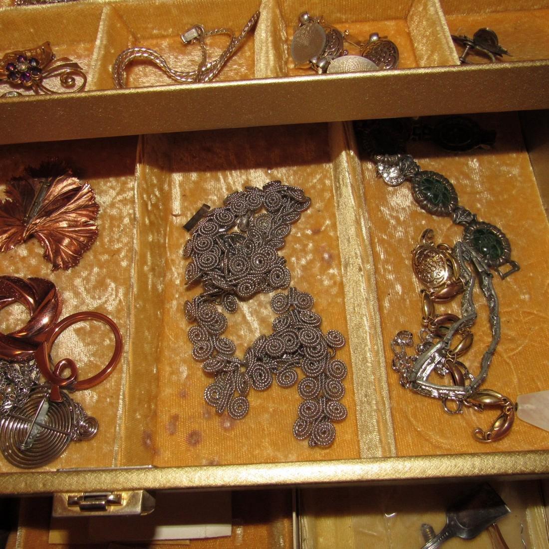 Jewelry Lot Ring Earrings Bracelets Brooches - 6