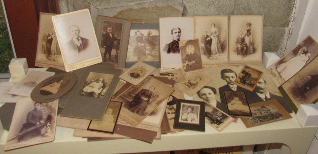Large Lot of Cabinet Photos