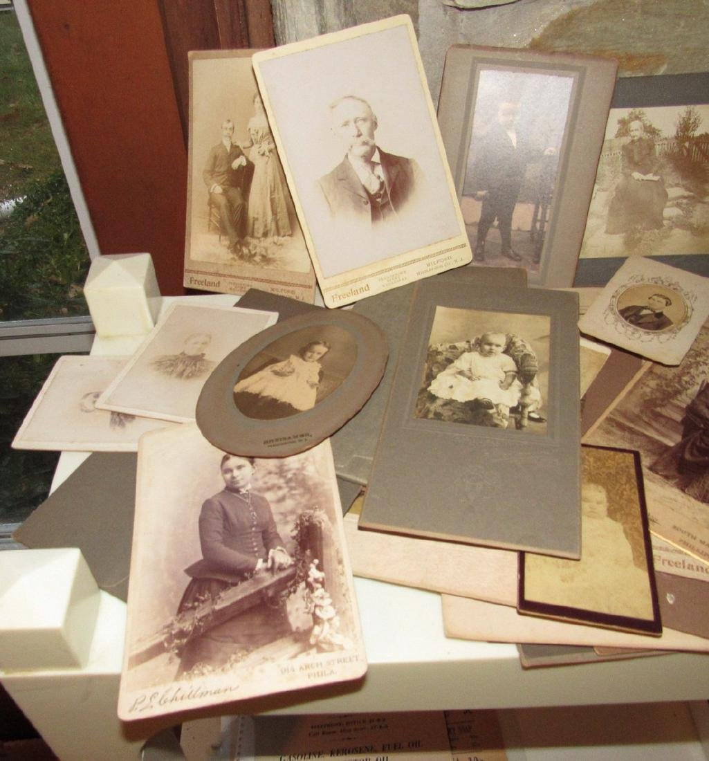 Large Lot of Cabinet Photos - 2