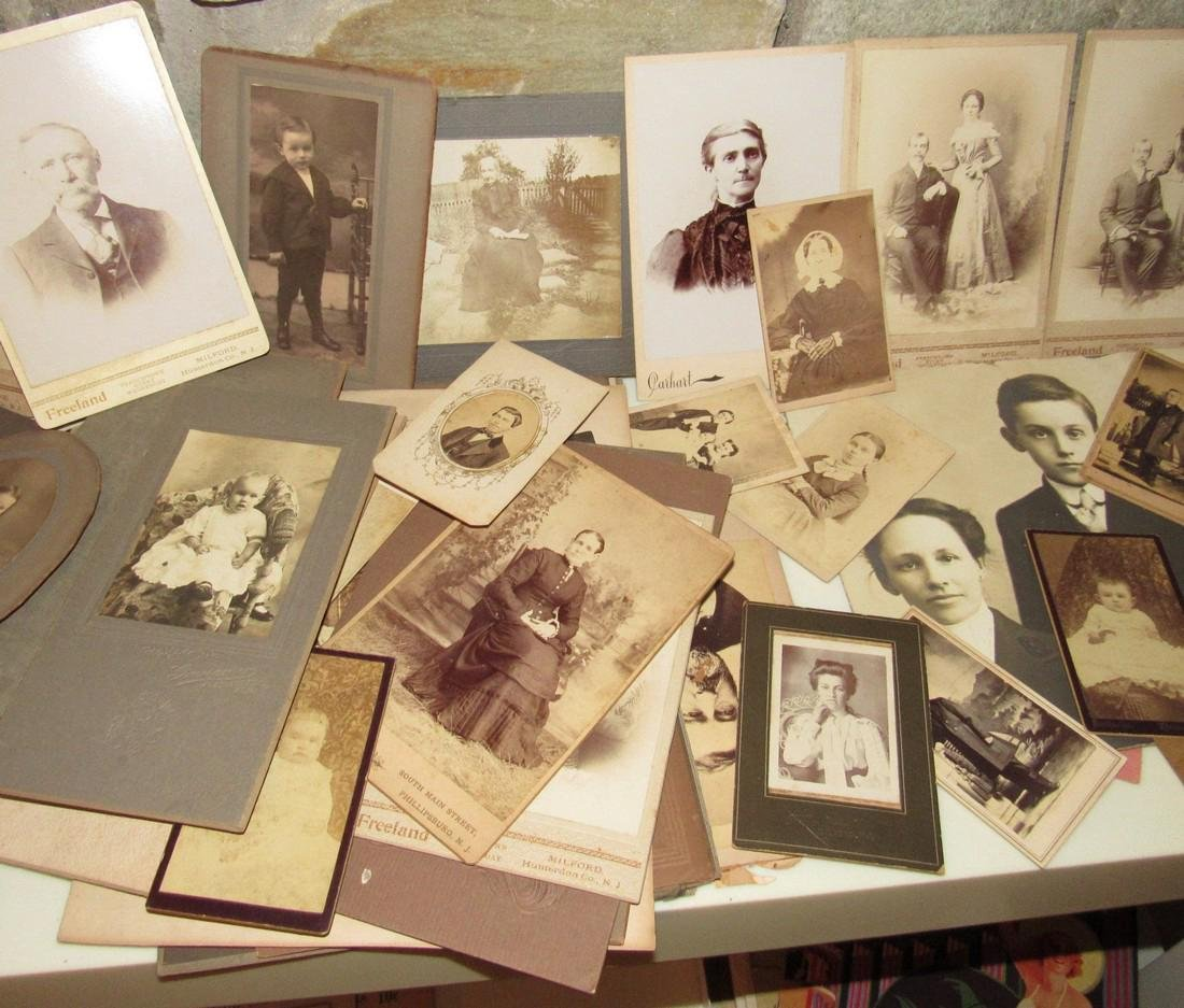 Large Lot of Cabinet Photos - 3