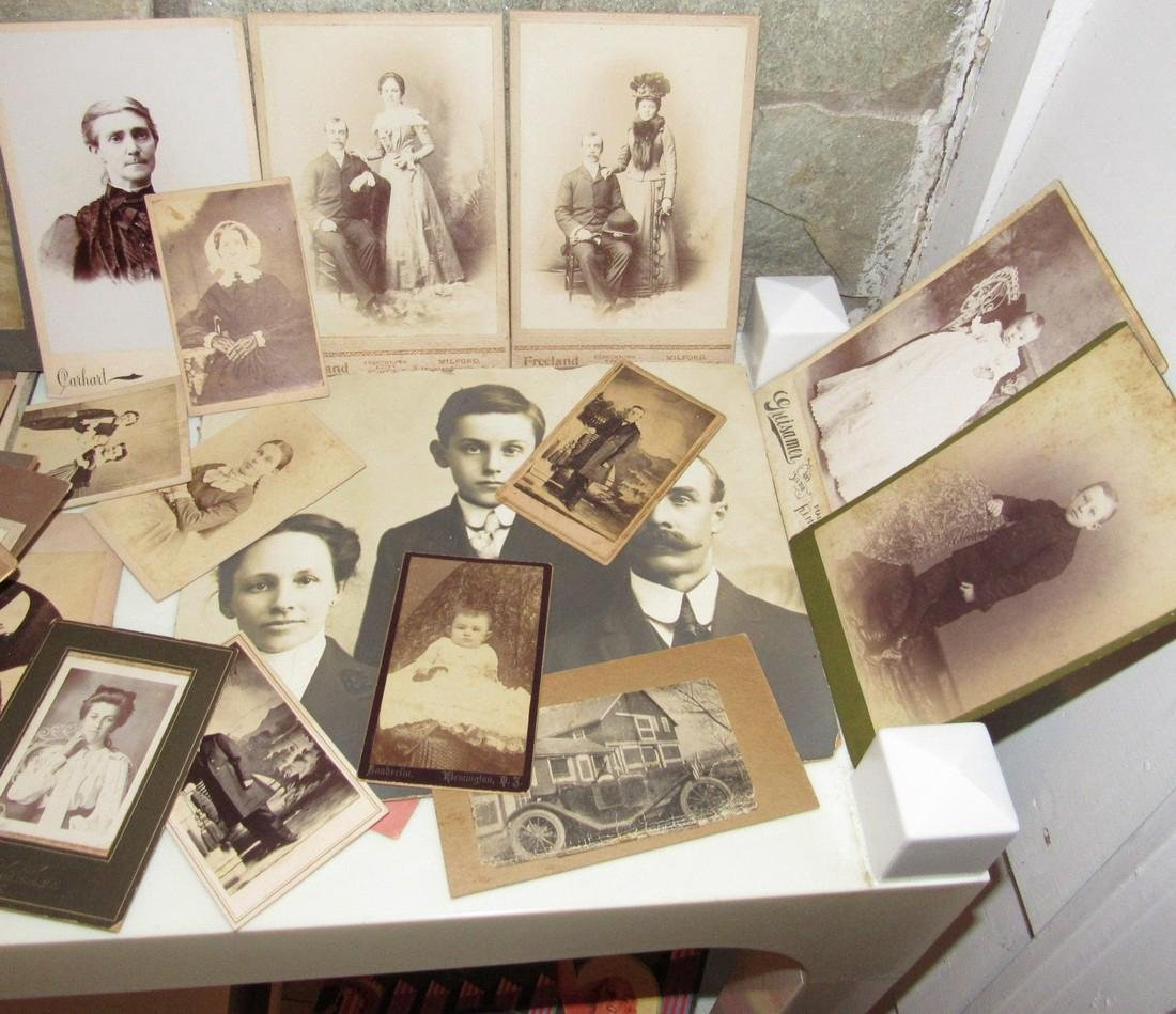 Large Lot of Cabinet Photos - 4