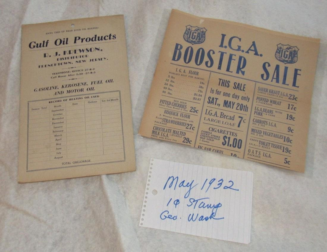 Gulf Oil Frenchtown & Pittstown NJ Literature