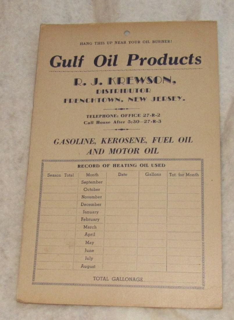 Gulf Oil Frenchtown & Pittstown NJ Literature - 3