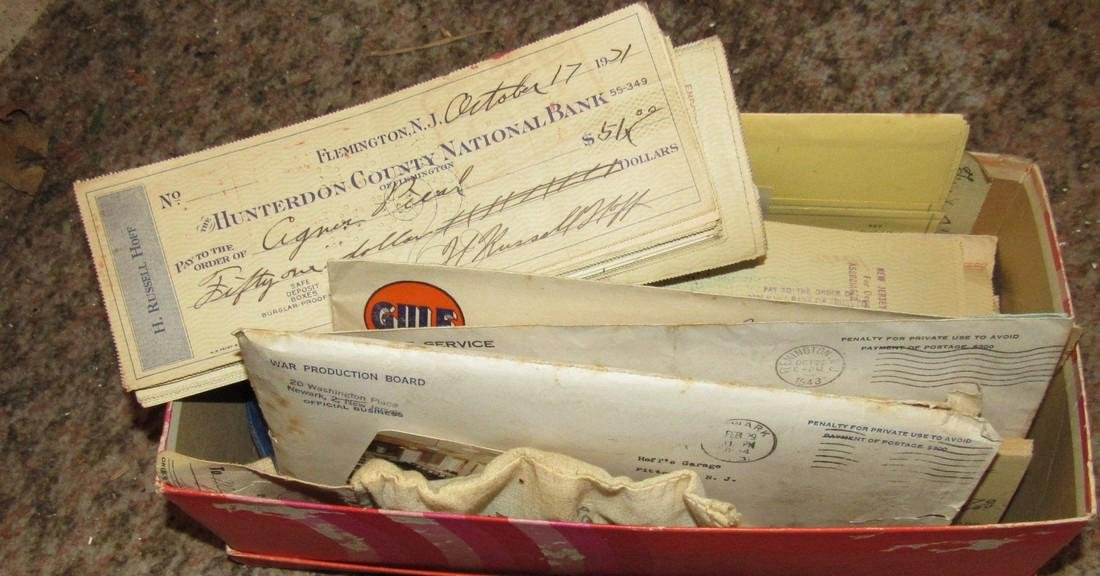 1920's 30's Hunterdon County Bank Checks