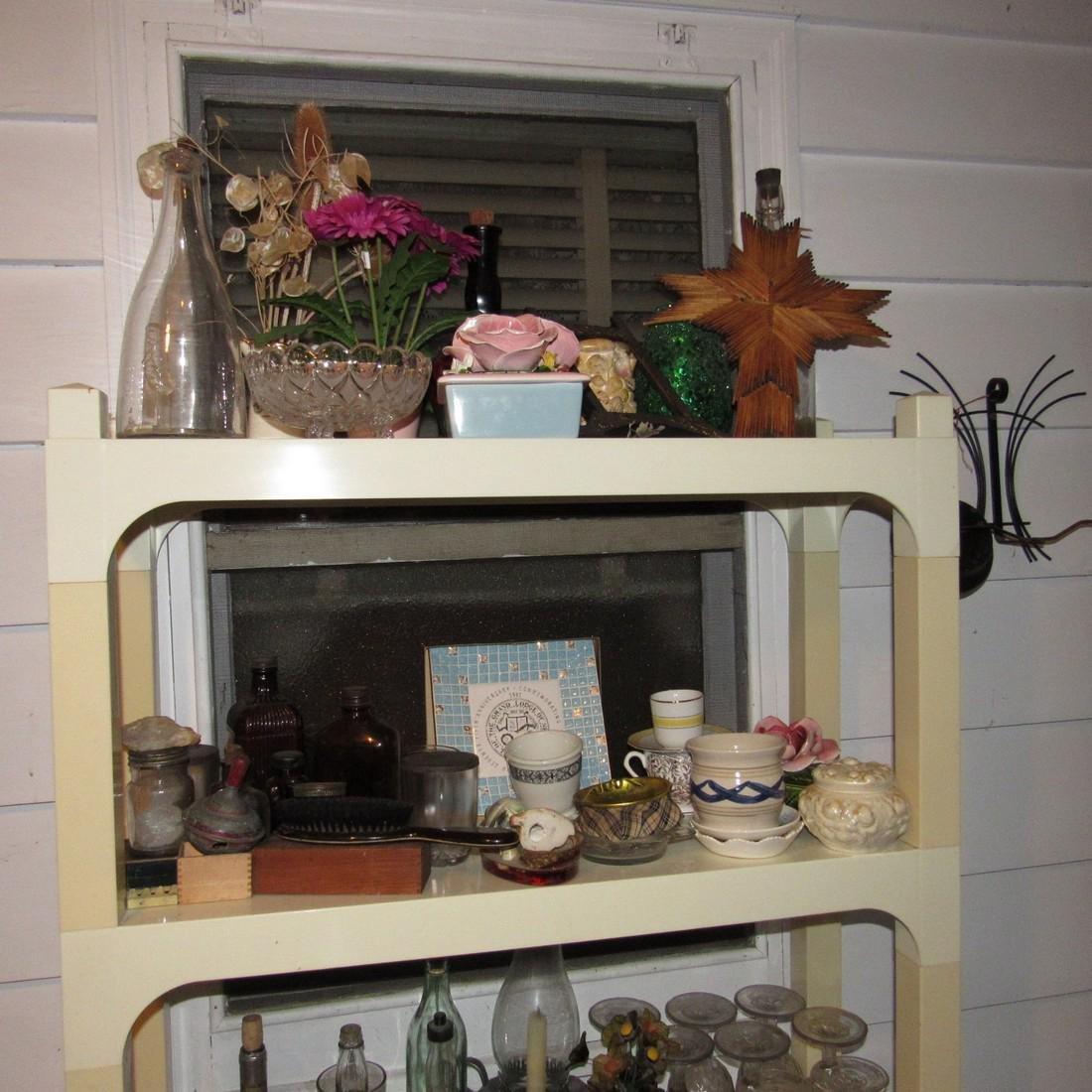 Shelf & Floor Contents Knick Knacks Glassware - 2