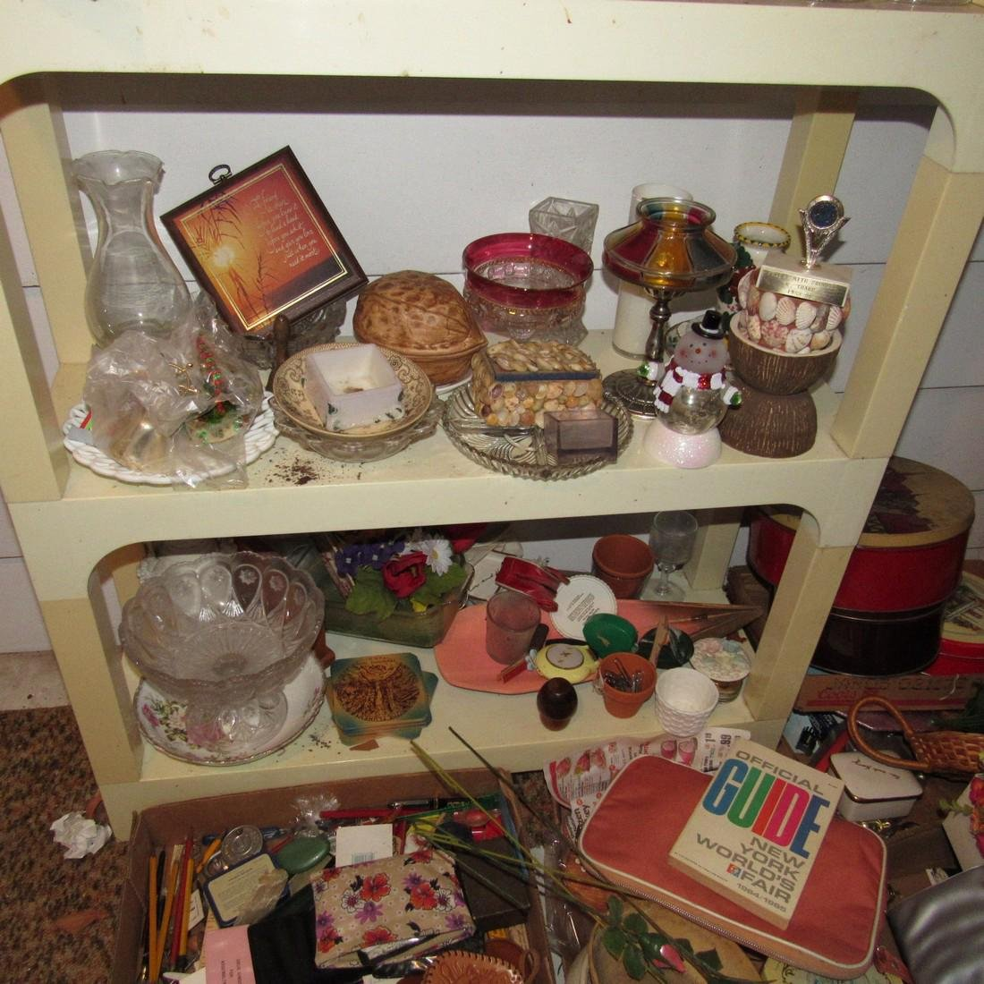 Shelf & Floor Contents Knick Knacks Glassware - 4