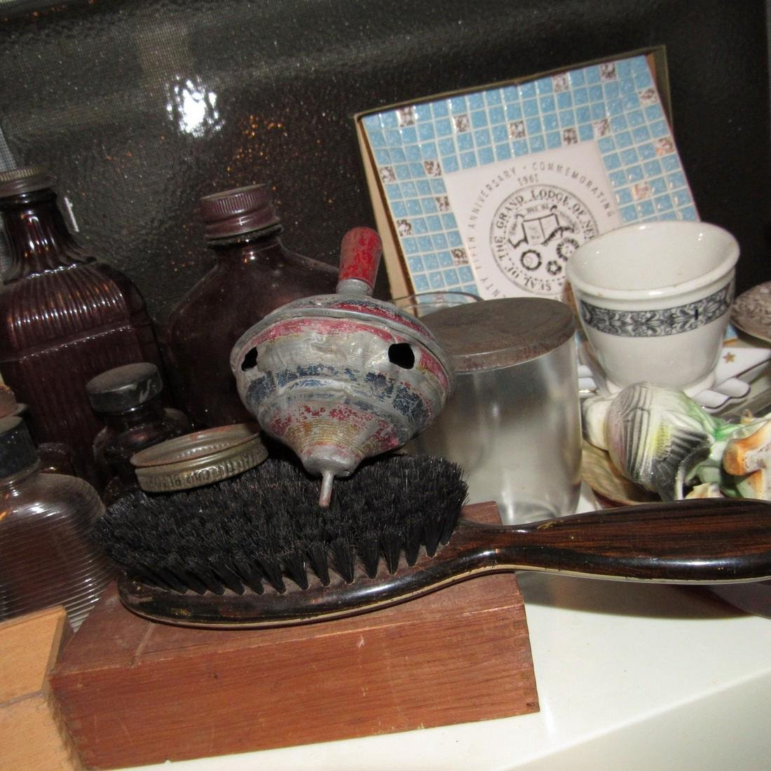 Shelf & Floor Contents Knick Knacks Glassware - 8