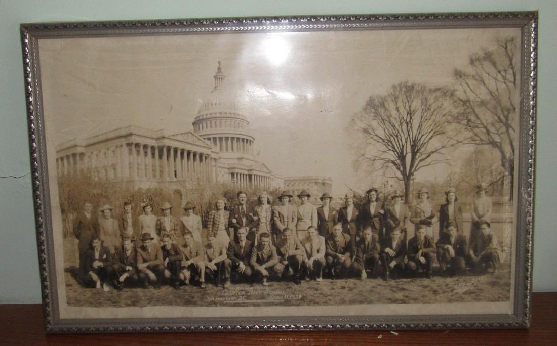 1939 Clinton NJ High School Class Trip Photo