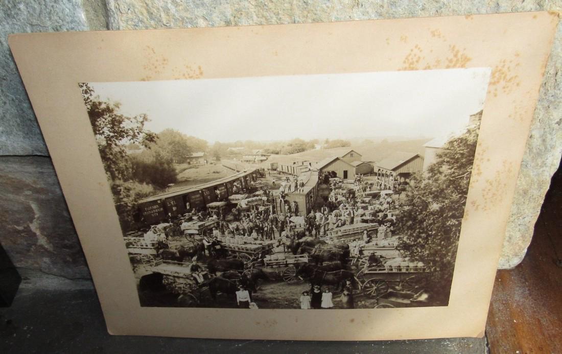 1890 Pittstown NJ Peach Exchange Photo