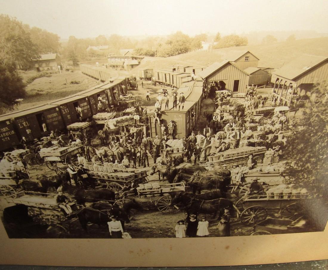 1890 Pittstown NJ Peach Exchange Photo - 2