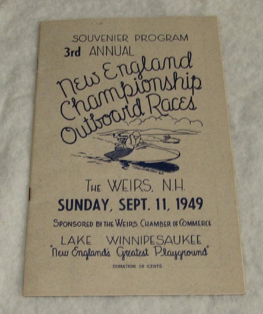 1949 New England Boat Outboard Race Program