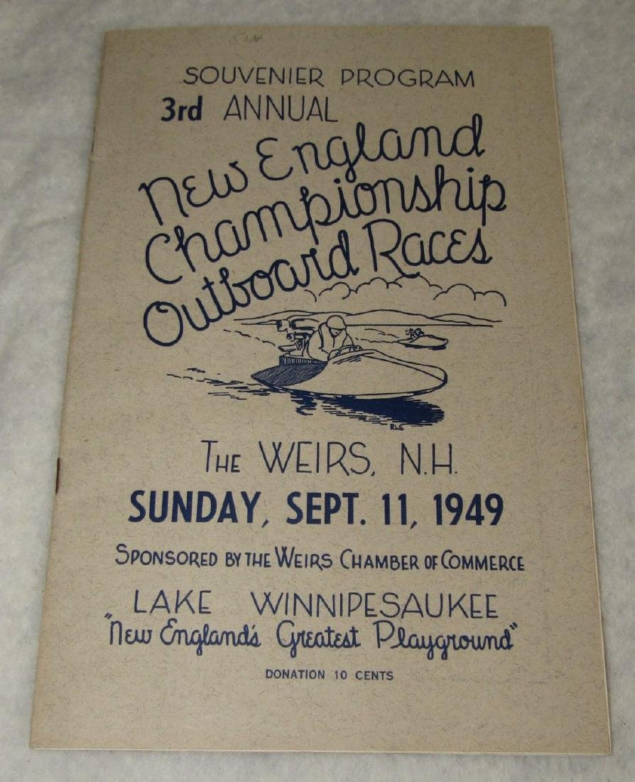 1949 New England Boat Outboard Race Program - 2