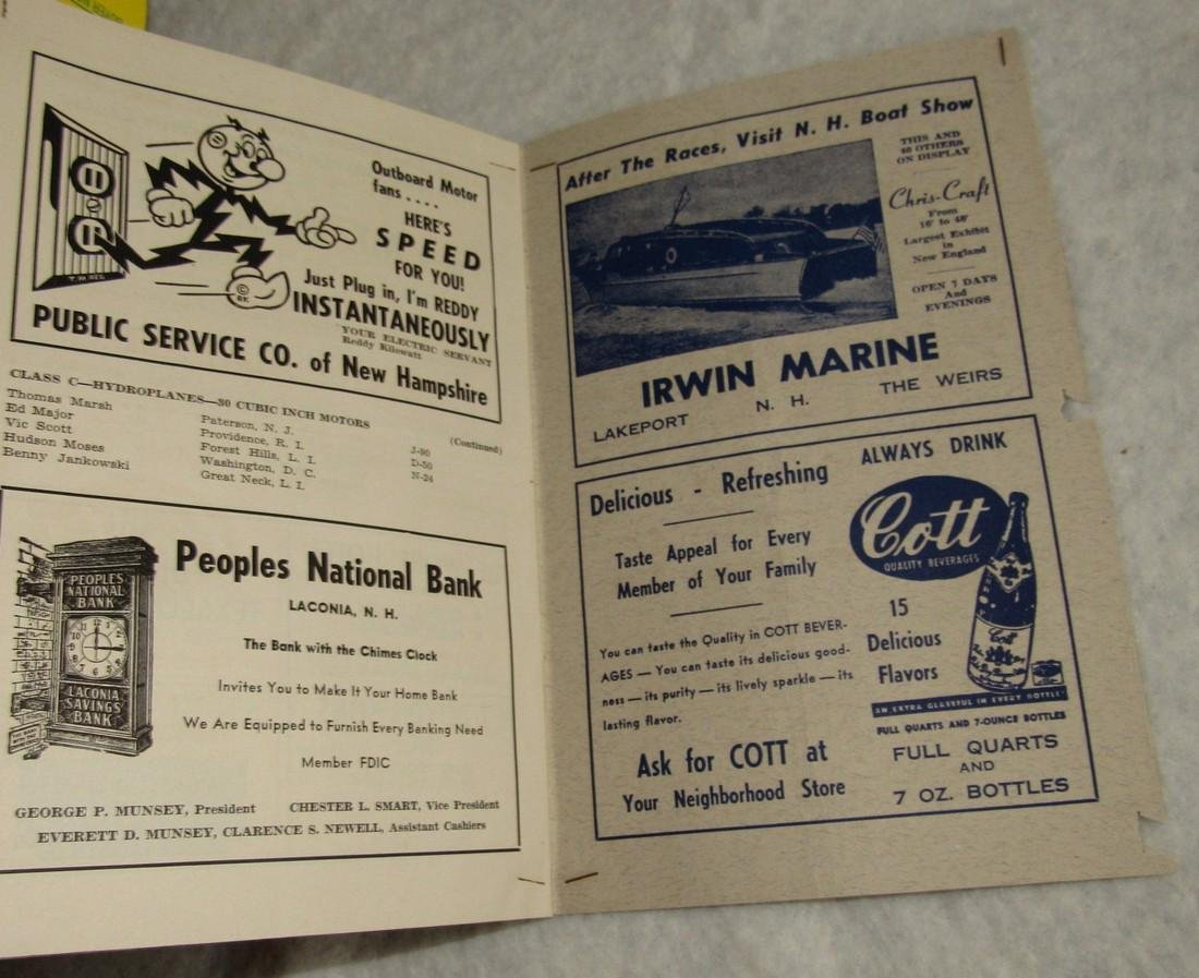 1949 New England Boat Outboard Race Program - 3