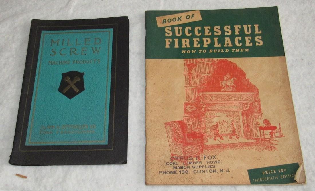 Fireplaces Milled Screws Catalog & Menu