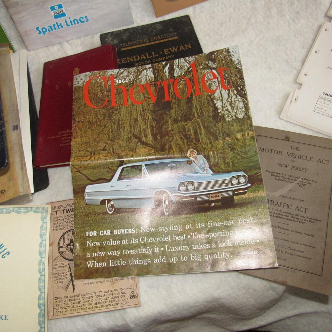1964 Chevy Brochure Hudson Cadillac Ford Lot - 8