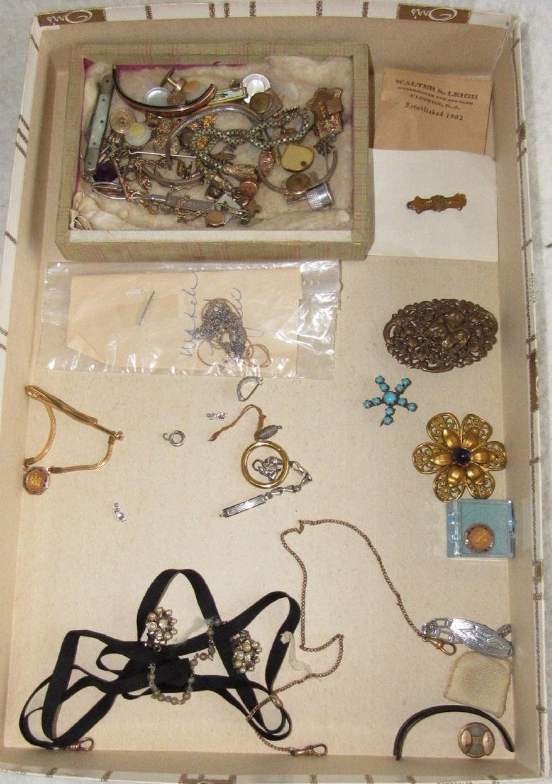 Jewelry Lot Brooches Tie Tacs Necklaces