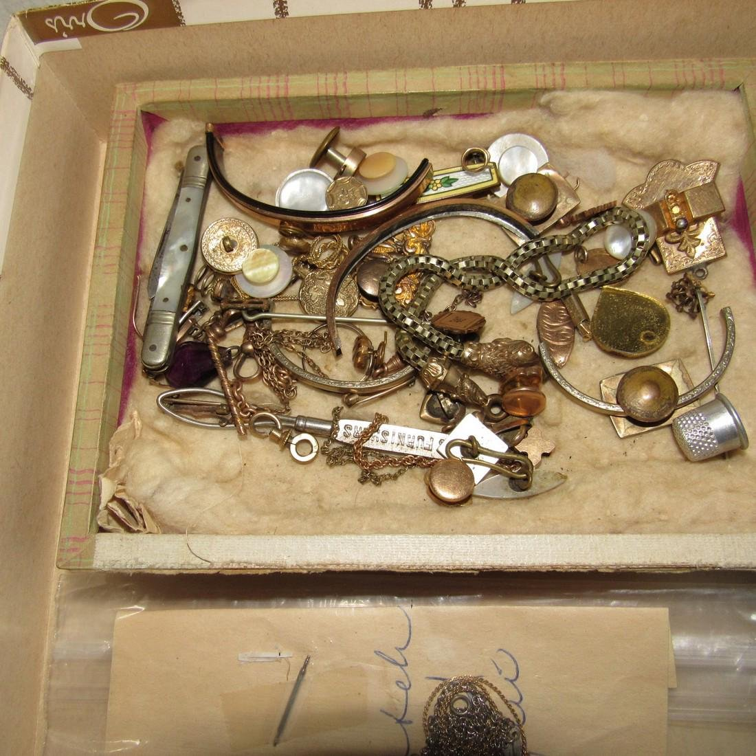 Jewelry Lot Brooches Tie Tacs Necklaces - 2