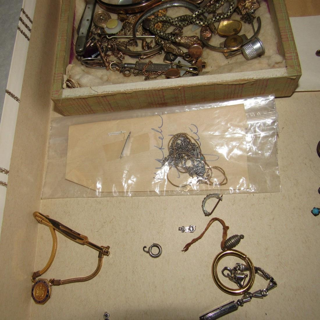 Jewelry Lot Brooches Tie Tacs Necklaces - 4