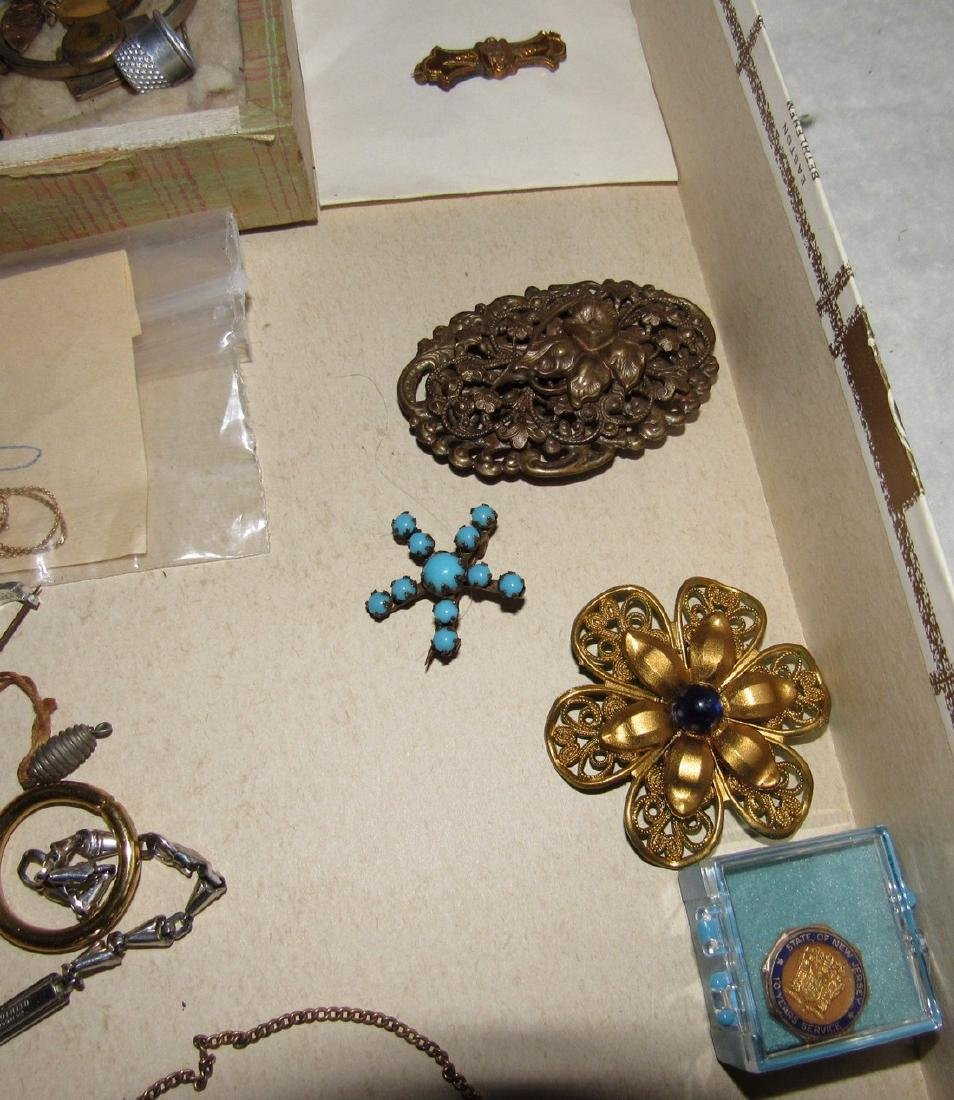 Jewelry Lot Brooches Tie Tacs Necklaces - 5
