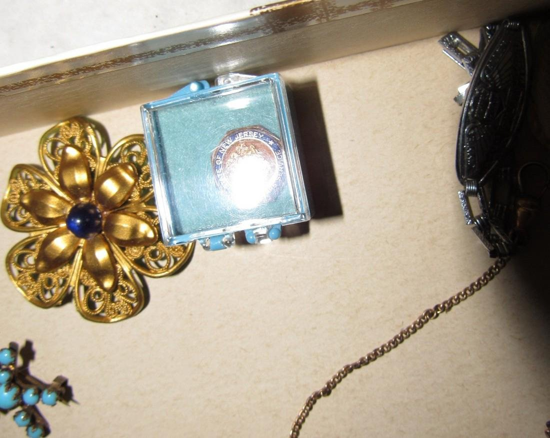 Jewelry Lot Brooches Tie Tacs Necklaces - 7