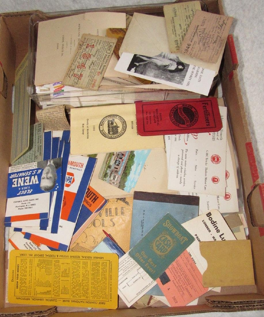 1947 Fishing License Maps Literature Lot