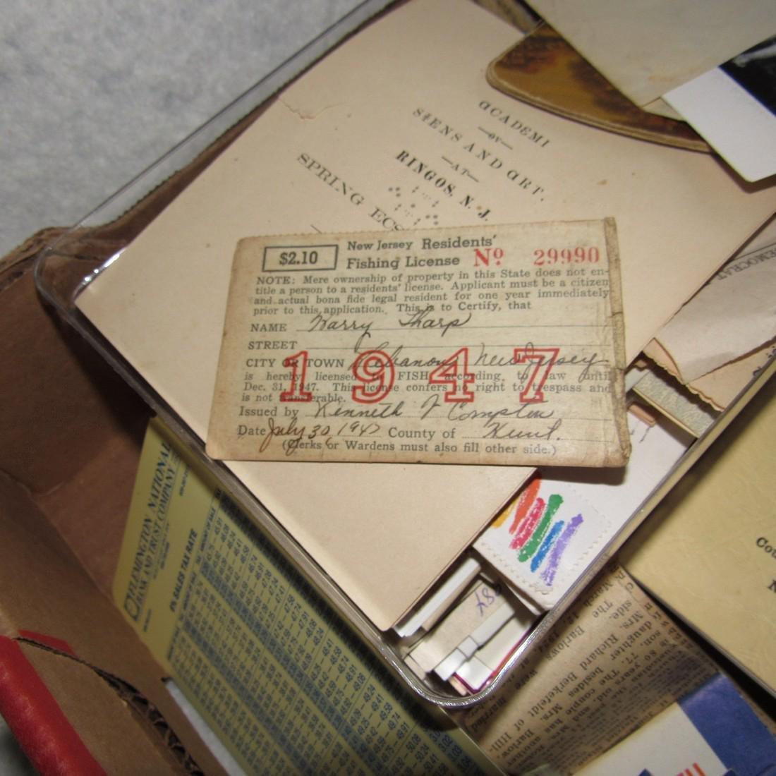 1947 Fishing License Maps Literature Lot - 2