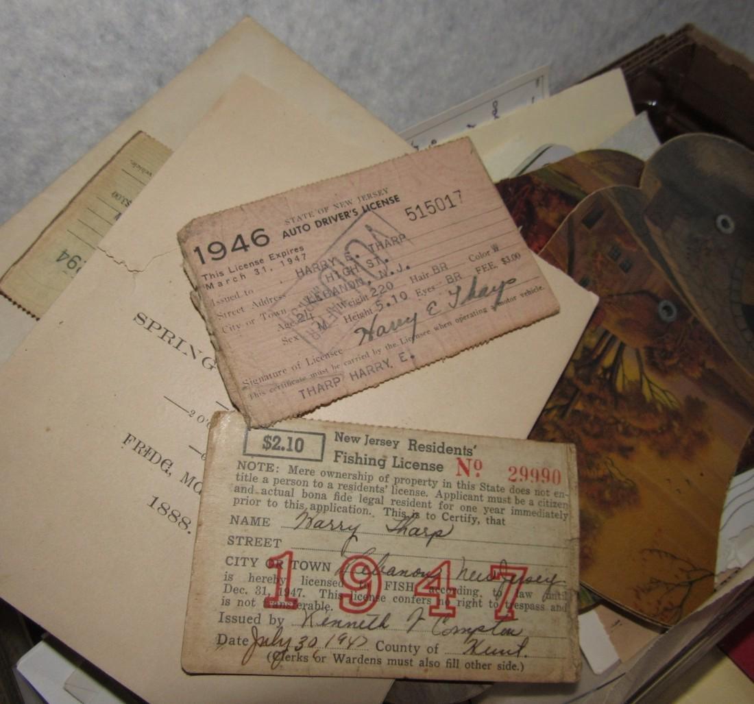 1947 Fishing License Maps Literature Lot - 4