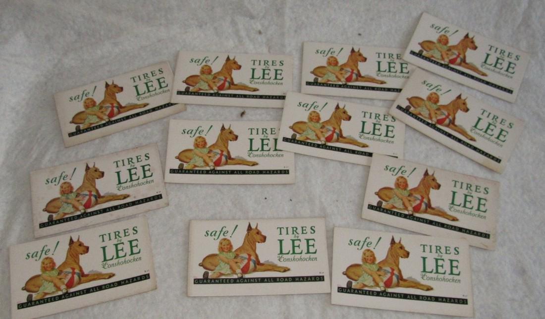 12 Lee Tires of Conshohocken Ink Blotter Cards