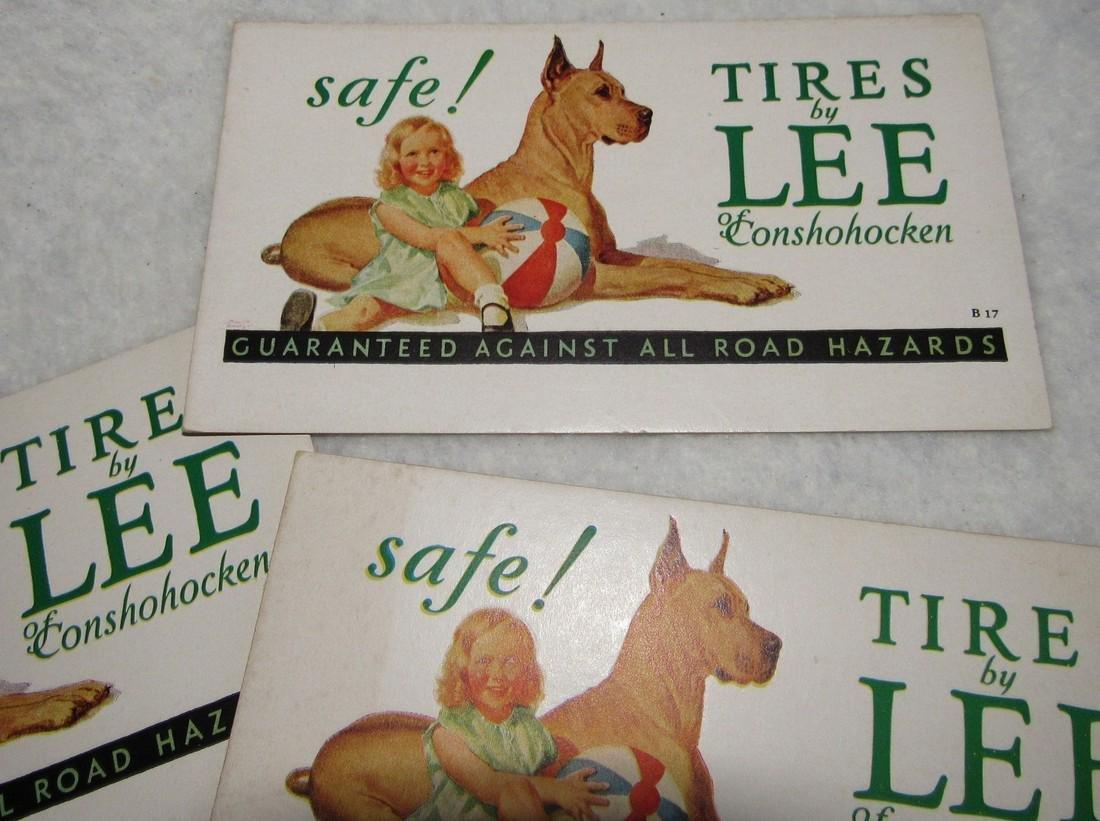 12 Lee Tires of Conshohocken Ink Blotter Cards - 2